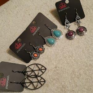 4 Pair Earrings Lot